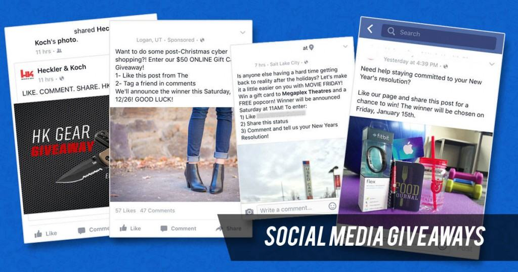 social media giveaways